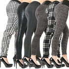 Thermo Leggings Treggings Teddy Innen Fell Hoher Bund Boyfried hose Baggy Harem