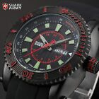 Voodoo III SHARK ARMY Military Date Day Quartz Silicone Men Sport Wrist Watch