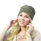 Womens Knit Slouchy Beanie Oversized Thick Cap Hat Unisex Slouch Many Colors CC