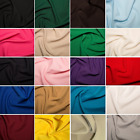 Plain Coloured Polyester Bi-Stretch Dress Suiting Fabric 147cm Wide
