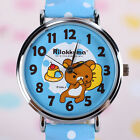 JAPAN BRAND NEW JAPAN RILAKKUMA POLKA DOTS LEATHER STRIPE WATCH K1002 GIFT BOX