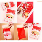 100X Red Christmas Stocking Man Santa Cookie Candy Sweet Party Cello Bags KJ14