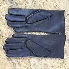 NEW DUTCH ARMY SURPLUS ISSUE BLACK UNLINED LEATHER UNIFORM DRESS PAIR OF GLOVES