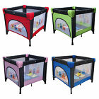 FoxHunter Baby Travel Playpen Infant Square Cot Bed Play Pen Portable Foldable