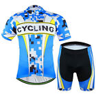 Summer Men's Ridiing Cycling Jersey Set Bike Bicycle Short Sleeve Jersey Shorts