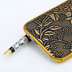 Deluxe Vintage Chrome Flower Pu Leather Skin Cover Hard Case for HTC One M8 NEW