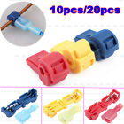 5/10Pair Quick Splice lock Wire Terminals Connectors Electrical Crimp Cable Snap