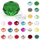 150pc DIY Rondelle Crystal Spacer Beads Fit Jewelry Making 3x4mm