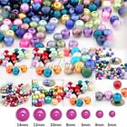 3/4/6/8/10/12/14mm Glass Pearl Spacer Beads Round Jewelry Findings Mixed Color