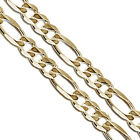 Gold Plated Figaro Chain 8.7mm New Solid Link Necklace