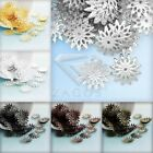 70-80Pcs Iron Flower Bead Caps 13x13mm For Jewelry DIY 6 Color Choose