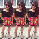 Baby Girls Kids Clothes V-Neck T-shirt Tops Blouse + Floral Pants Outfits Sets