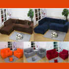Colors Plush Sofa Couch SlipCovers Stretch Elastic Sofa Cover For 1 2 3 4 Seater