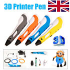 UK 3D Printing Pen Stereoscopic Drawing Arts Crafts + 3 Free ABS Filaments NEW!!