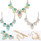 Womens Chic Necklace Statement Jewelry Rhinestone Crystal Choker Chunky Pendant
