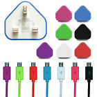 UK Wall Mains Charger & Micro USB Cables For Samsung HTC Nokia LG Sat Nav Sony