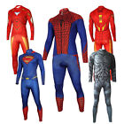 Men Marvel Batman Superheros The Avengers long Sleeve Cycling Jersey+Pants