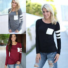Women Cotton Casual Blous Crochet Pullover Long Sleeve Loose Tops T-Shirt Blouse