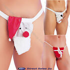 Mens Christmas Willy Warmer Santa Snowman Parcel Posing Pouch Thong Xmas Gift