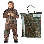 Childrens ProClimate Kids Boys Camo Waterproof Jacket & Trousers In A Bag