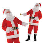 Mens Classic Santa Claus Father Christmas Festive Fancy Dress Costume Outfit