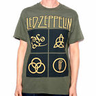 Led Zeppelin T Shirt - Green Runes 100% Official USA Import Jimmy Page