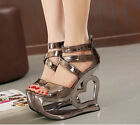 Hollow Out Fashion Heart Wedge Shoes Women Party Dancing High Heels New Sandals