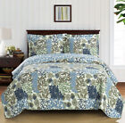 Luxury Elena Coverlet set, Wrinkle Free Printed Bedspread Set, Reversible Quilt image