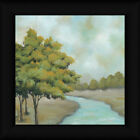 The First Sign of Fall I 12x12 Landscape Painting Framed Art Print Picture