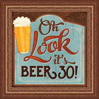 Beer30 Mollie B 12x12 Funny Bar Sign Framed Art Print Picture Wall Decor