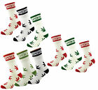 X 3 Ganja Weed Plant Hi Life Marijuana Stay Smokin Cotton Blend Sports Socks