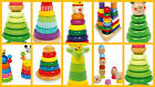 baby stacking toys tower colourful pyramid kids improve motor skills NEW!! NEW!!