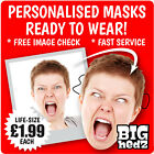 5 PERSONALISED FACE MASKS BIG A3 or LIFESIZE Stag Do Hen Night Sash Birthday
