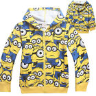 Children Kids Boy Despicable Me 2 Minions Doll Hoodies Clothing Top Jumper