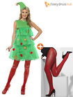 Size 8-18 Ladies Sexy Christmas Tree Tutu Adult Womens Party Fancy Dress Costume