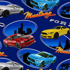 Bargain Price Ford Mustang American Muscle Car United States 100% Cotton Fabric