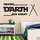 STAR WAR inspired & Personalised/Customise  Name  Kids / Nursery Wall Sticker