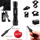 Tactical Cree T6 Flashlight + Remote Switch + Optional Picatinny Mount for Rifle