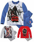 Boys Long Sleeved Star Wars Pyjamas New Childrens Nightwear Set Ages 6-12 Years