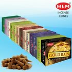 HEM Genuine Incense Dhoop Cones Joss Pack of 1 (10 Cones) in Many Mixed Scents