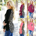 Sexy Leopard Printed Women Ladies Long Sleeve Pullover T-Shirt Tops Blouse Shirt