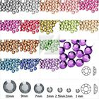About 2000 Round Faceted Acrylic Flatback Rhinestones Gem Non-Hotfix Nail Art