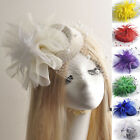 Внешний вид - vintage lady bridal pillbox hat fascinator hair clip accessories feather veil
