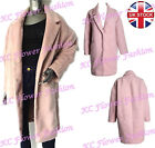 Brand New Woman Atmophere Pink Waterfall Wool Blend Winter Coat Ex Chainstore