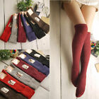 Women Winter Warm Turn Up Rib Dot Wool Blend Long Knee High Boot Socks Stockings