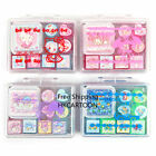 JAPAN SANRIO KITTY MELODY LITTLE TWIN STRAS STAMP GIFT SET-STAMP+COLORS INK PADS