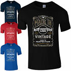Made in 1980 T-Shirt Born 36th Year Birthday Age Present Vintage Funny Mens Gift