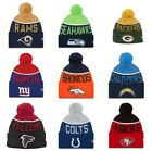NEW ERA 2015-16 SPORT KNIT NFL Onfield Sideline Beanie Winter Pom Knit Cap Hat $15.95 USD on eBay
