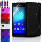 ULTRA THIN GEL CASE COVER & SCREEN PROTECTOR FOR VARIOUS SONY XPERIA PHONES