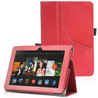 """PU Leather Pocket Stand Case Cover w/ Hand Strip for Kindle Fire HDX 7"""" 2013"""